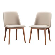 Set of 2 Lavin Mid-Century Solid Wood Dining Chair | Overstock.com Shopping - The Best Deals on Dining Chairs