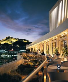 "Galaxy Bar, Athens Hilton for ""rooftops sexy "". For more on Athens by Night visit http://thetravelporter.com/"