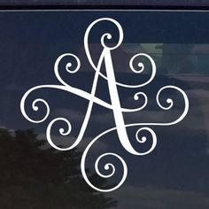 Custom Elegant Scroll Vine Name Letter Vinyl Decal/Bumper Sticker for Cars YETI Cup Laptop Monogram Colors) x Custom Car Decals, Custom Stickers, Vinyl Decals, Label Stickers, Vinyl Art, Vinyl Monogram, Monogram Letters, Cool Lettering, Vinyl Lettering