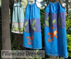 Pillowcase dress tutorial - simple easy to make dresses to take to donate to orphange (for cheap! Simple Dress Pattern, Dress Patterns, Rock Outfits, Kids Outfits, Sundress Tutorial, Operation Christmas Child, Royal Blue Color, Pillowcase Dresses, Baby Sewing