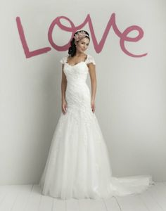 Style 5972 is our Dress Of The Week! This tulle and lace beaded cap sleeves with sweetheart neckline wedding dress has a draped beaded lace drop waistline.     Sweetheart Gowns Worldwide   Wedding Gowns   Wedding Dresses