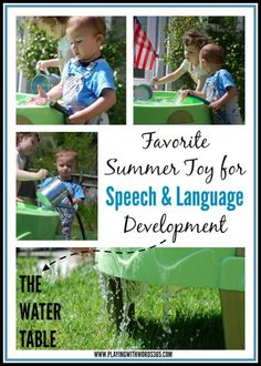 How to use a water table to promote speech and language development. Tips from a speech language pathologist.