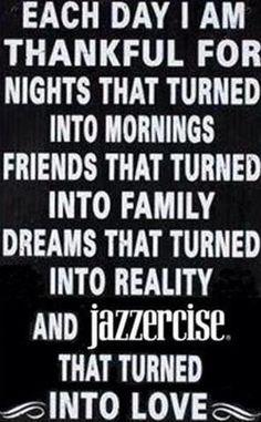 Jazzercise...I'm so hooked