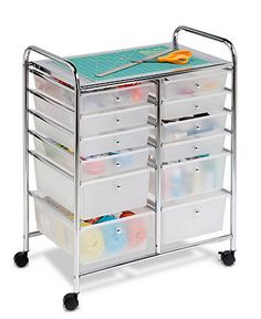 Honey Can Do Home Office Organization Cart, 12 Drawer-Bring order to your home office with this expert organizer, featuring twelve drawers to keep tabs on all of your supplies. Home Office Organization, Craft Organization, Organizing Ideas, Teacher Storage, Organization Station, Drawer Cart, Rolling Storage Cart, Rolling Craft Cart, Rolling Carts