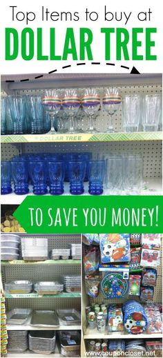 What to buy at the Dollar Tree Store to save you money  - here are my favorite items that will save you money. What do you buy there? money saving hacks, saving money hacks