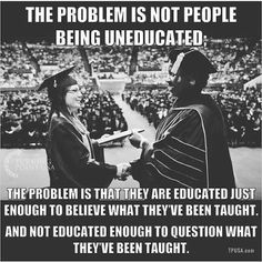 THOMAS SOWELL: Our schools are teaching children what to think, but not how. JAVI: Think about it. Quotable Quotes, Wisdom Quotes, Me Quotes, Great Quotes, Inspirational Quotes, Motivational, Political Quotes, Political Beliefs, Out Of Touch