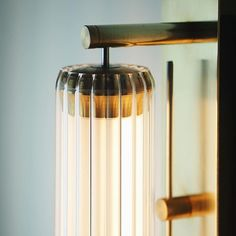 Our Fresnel Wall Light in its Brass finish Interior Lighting, Modern Lighting, Lighting Design, Light In, Lamp Light, Wall Sconce Lighting, Chandelier Lighting, Sconces, Contemporary Light Fixtures