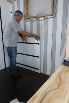 Insulation Panels for Shipping Containers - Installing insulations | InSoFast Shipping Container Sheds, Converted Shipping Containers, Container Office, Container House Design, Tiny House Cabin, Tiny Houses, Small Barn Home, Container Conversions, Doors And Floors
