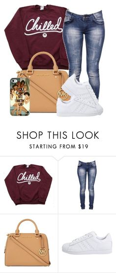 """Just chillin"" by amk-killa ❤ liked on Polyvore featuring Boohoo, MICHAEL Michael Kors, adidas Originals and Samsung #cateras #michaelkors #michaelkorsusa #michaelkorsperu #caterasusa #caterasperu #peru"