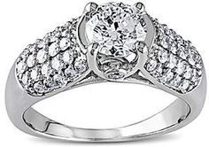 jcpenney FINE JEWELRY 11⁄4 CT. T.W. Diamond 14K White Gold Bridal Ring on shopstyle.com