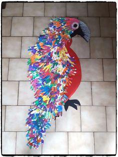 perroquet à plusieurs mains, décoration tropical, animaux, peinture enfant