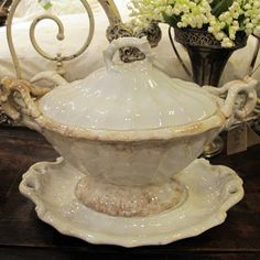 Antique Ironstone Tureen, Leftovers 2013
