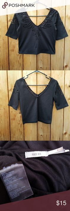 Urban Outfitters Kimchi Blue Laser Cut Crop Top Excellent condition  Feel free to ask me any additional questions! No trades, or modeling. Reasonable offers are considered.?Bundles 3+ are 15% off!! Happy Poshing Urban Outfitters Tops Crop Tops
