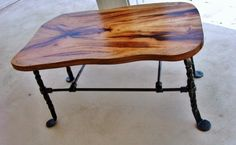 Mesquite and Iron Stool or Bench by MesquiteForge on Etsy, $250.00