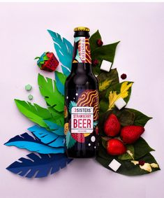 Rio reworked the world's packaging - creative package design gallery .Rio reworked on packaging the world - Creative Package Design Gallery . Beer Packaging, Beverage Packaging, Creative Box, Creative Package, Creative Design, Strawberry Beer, Craft Beer Brands, Illustration Photo, Packaging Design Inspiration