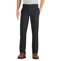 Dickies Men's Slim Taper Fit Twill Pant- Black 36X34