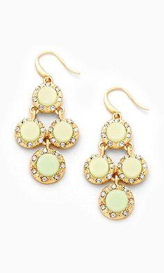 Dotti Chandelier Earrings in Soft Sage