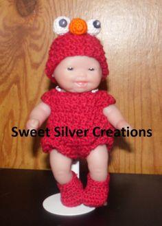 Crochet Pattern 5.5 inch Berenguer/Lots by SweetSilverCreations