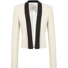 Lanvin Two-Tone Cotton Tuxedo Jacket ($2,985) ❤ liked on Polyvore
