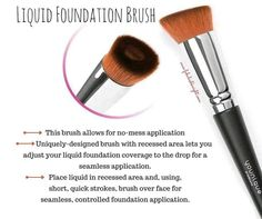 Younique Liquid Foundation Brush is the best! Makeup Tools, Makeup Brushes, Makeup Ideas, Eye Makeup, Younique Presenter, Eyebrow Tutorial, Makeup Foundation, Liquid Foundation Brush Younique, Foundation Application