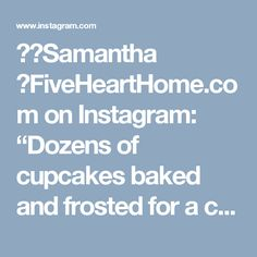 """💁🏼Samantha 🍴FiveHeartHome.com on Instagram: """"Dozens of cupcakes baked and frosted for a certain 2nd grade V-Day party tomorrow! And in case you ever need to frost a bunch of cupcakes…"""""""