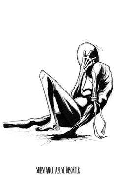 The art of Shawn Coss — Inktober Illness Series II Sad Drawings, Dark Art Drawings, Mental Health Art, Dark Art Illustrations, Cross Art, Arte Horror, Horror Art, Creepy Art, Monsters
