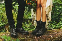 Im wearing smart shoes too. long dress means I can. you should wea. Im wearing smart shoes too. long dress means I can. you should wear whatever shoes will be comfortable Punk Rock Wedding, Edgy Wedding, Wedding Boots, Wedding Tips, Wedding Bride, Wedding Styles, Dream Wedding, Budget Wedding, Grunge Wedding