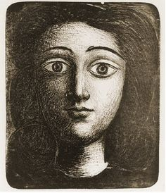 "Pablo Picasso - ""Head girl VI"". 1945➕More Pins Like This At FOSTERGINGER @ Pinterest ➖ ✖️"