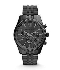 Michael Kors Men´s Lexington Gunmetal Chronograph Watch