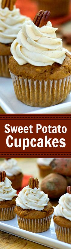 Sweet Potato Cupcakes with Spiced Buttercream.