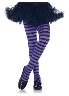 Leg Avenue Kid's Nylon Blend Stripe Tights – Nice Tattoo Models Images Striped Stockings, Striped Tights, Black Tights, Purple Tights, Girl Costumes, Costumes For Women, Halloween Costumes, Children Costumes, Halloween Halloween