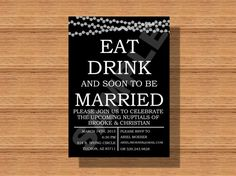 String Lights Eat Drink and Soon to be Married by WeddingsByJamie