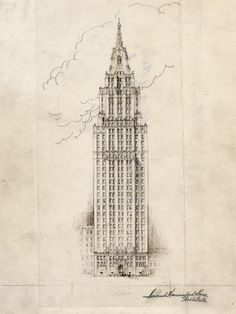 'Never built' Temple Tower skyscraper could have been a companion to Carew Tower. Photo: Samuel Hannaford & Sons sketch of Temple Tower, a proposed skyscraper to replace the First Presbyterian Church on Fourth Street that was never built. Enquirer file photo