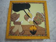 ido (1) (580x435, 215Kb) Sunbonnet Sue, Pot Holders, Sewing Patterns, Applique, Patches, Kids Rugs, Quilts, Box, Crafts