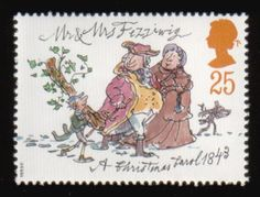 Charles Dickens - A Christmas Carol - Quentin Blake stamp.