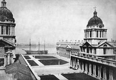 Fame training ship at the Royal Naval College Greenwich Greenwich Palace, Old Greenwich, Greenwich London, London History, British History, Vintage London, Old London, Isle Of Dogs, Victorian Life