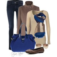 Cobalt by orysa on Polyvore featuring Maison Scotch, Windsmoor, Goldsign, Børn, Maddalena Marconi, Burberry and Marc Jacobs
