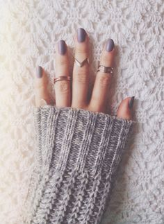 neutral nails and rings