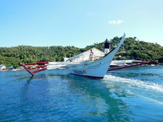 Boat transfer to Coco Beach resort, Philippines