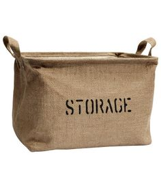 H&M - Jute Storage Basket - Beige from H&M. Saved to Home. Shop more products from H&M on Wanelo. Storage Baskets, Bag Storage, Jute, Modern Rustic Decor, H & M Home, H&m Online, Home Decor Shops, Beige, My New Room