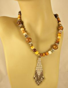 Necklace of Mookite Porcelain Red Creek Jasper by BlingbyDonna, $40.00