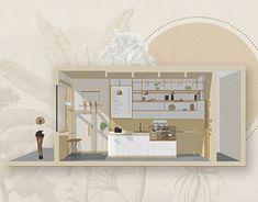 Bubble Diagram, Kitchen Drawing, Interior Design Presentation, Interior Design Sketches, Behance, Photoshop Design, Modern Exterior, Layout Design, Interior Architecture
