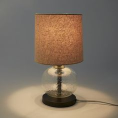 Mini Abacus Table Lamp - Clear | west elm