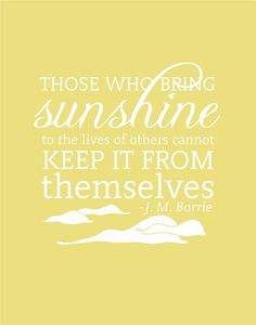 Sunshine Inspirational Quote Print Typography by FlourishCafe
