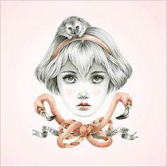 """Courtney Brims: """"Alice in Wonderland"""" postcards"""