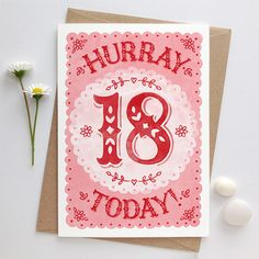 18th Birthday Card | Eighteenth Birthday | Coming of Age Card | Girls 18th Card | Girls Eighteenth Card | Pink 18th Card | Special 18th Card