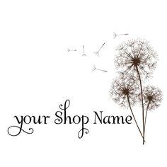 Premade Logo design for your business logo boutique logo - Pretty dandelion flower floral - no305. $15.00, via Etsy.