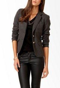 Leather pants + classy professionallism. :D