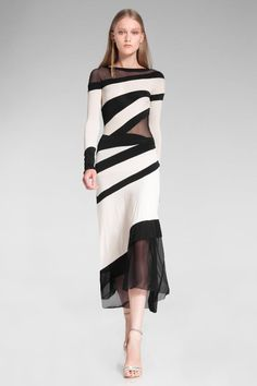 Donna Karan ● RESORT 2014 think it would be easy to copy this with pieces from other dresses. Sexy Dresses, Beautiful Dresses, Dress Outfits, Short Dresses, Fashion Dresses, Dress Up, Stylish Dresses, Dress Long, Fashion Clothes