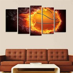 Cheap pictures of people eating, Buy Quality arts pictures house directly from China art abstract pictures Suppliers: Unframed 5 Pcs Flame Basketball Picture Print Painting Modern Canvas Wall Art For Wall Decor Home Decoration Artwork Oil Painting Abstract, Abstract Wall Art, Canvas Wall Art, Cheap Paintings, Oil Paintings, Girls Room Paint, Office Wall Art, Wall Art Sets, Large Art
